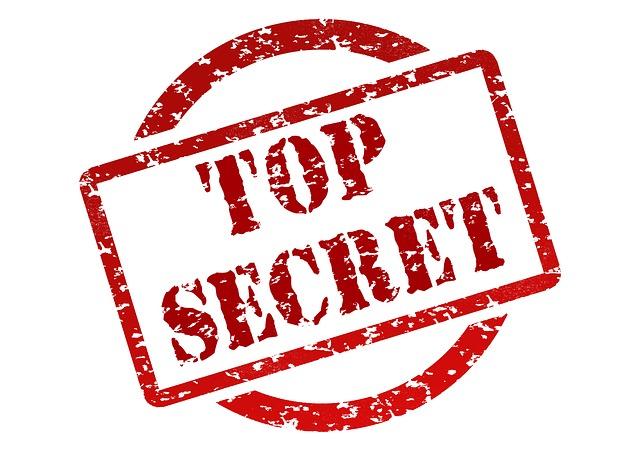 """Stempel mit """"Top Secret"""""""