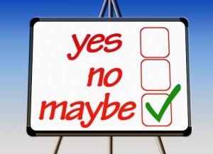 Yes No Maybe Kästchen