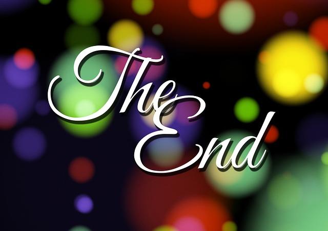 The End farblich unterlegt